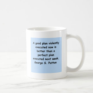 george s patton quote classic white coffee mug