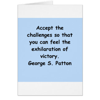 george s patton quote greeting card