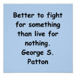 george s patton quote poster
