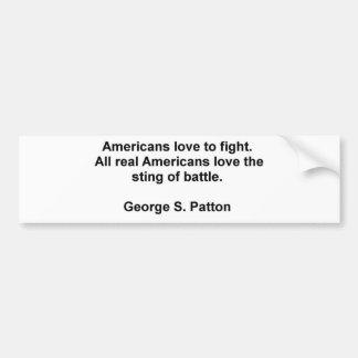 George S. Patton Quotes Car Bumper Sticker