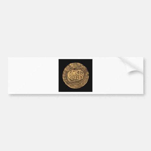 """George Seton Marriage to Hamilton Medallion"" Car Bumper Sticker"