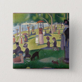 GEORGE SEURAT - A  sunday afternoon 1884 Pinback Button