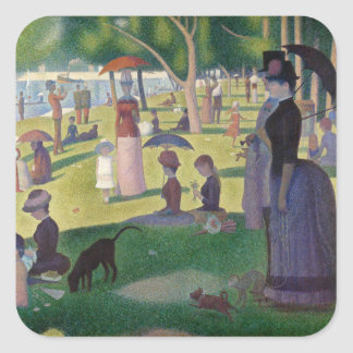 GEORGE SEURAT - A  sunday afternoon 1884 Square Sticker