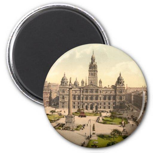 George Square, Glasgow, Scotland Fridge Magnets