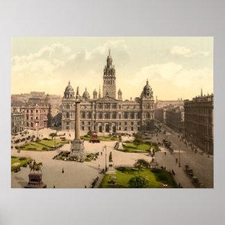 George Square, Glasgow, Scotland Poster