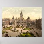 George Square, Glasgow, Scotland Posters
