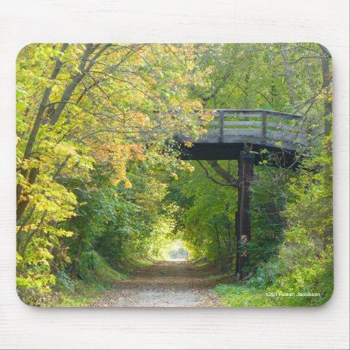 George St Bridge in Fall Mousepads