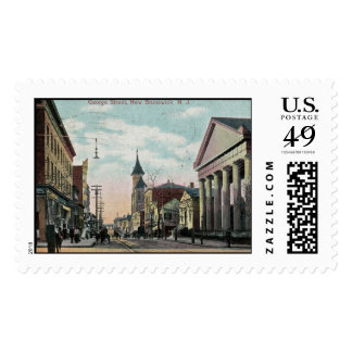George St., New Brunswick NJ 1910 Vintage Postage