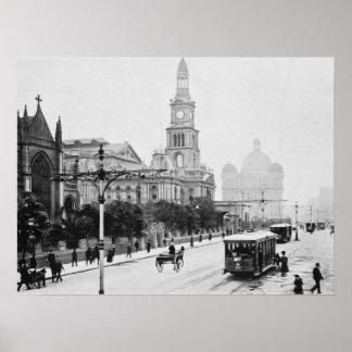 George St Sydney Australia c1898 Archival print