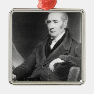 George Stephenson, engraved by Charles Turner Metal Ornament