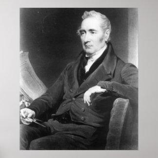 George Stephenson, engraved by Charles Turner Poster