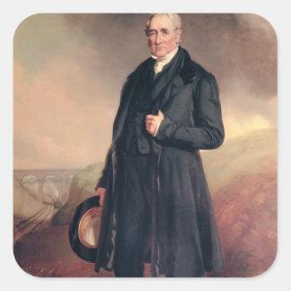 George Stephenson Square Sticker