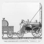 George Stephenson's Locomotive, 'Rocket', 1829 Square Stickers