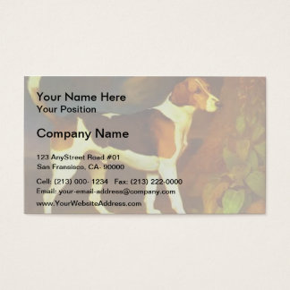 George Stubbs- A Foxhound, Ringwod Business Card