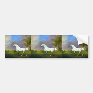 George Stubbs- A Grey Horse Car Bumper Sticker