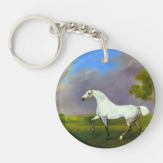 George Stubbs- A Grey Horse Keychains