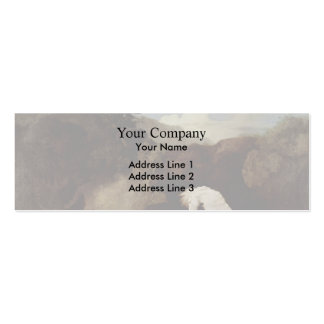 George Stubbs- A Horse Frightened by a Lion Double-Sided Mini Business Cards (Pack Of 20)