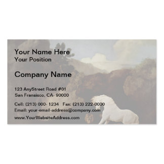 George Stubbs- A Horse Frightened by a Lion Double-Sided Standard Business Cards (Pack Of 100)