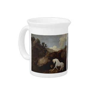 George Stubbs- A Horse Frightened by a Lion Drink Pitchers