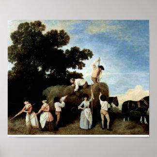 George Stubbs - cuando haymaking Poster