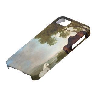George Stubbs- dos yeguas de la bahía y un potro iPhone 5 Case-Mate Funda