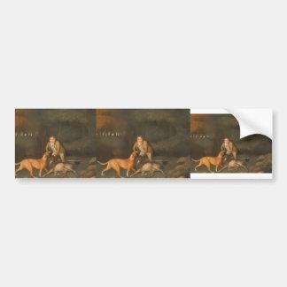 George Stubbs- Freeman con una gama y un perro de  Etiqueta De Parachoque