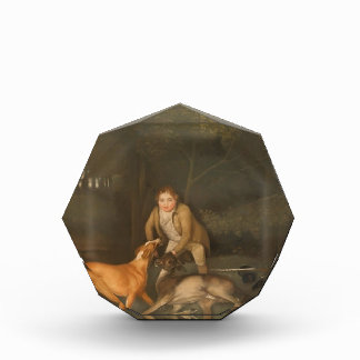 George Stubbs- Freeman con una gama y un perro de