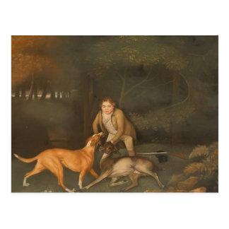 George Stubbs- Freeman con una gama y un perro de Tarjetas Postales
