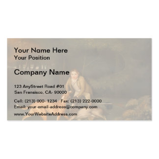 George Stubbs- Freeman With a Dying Doe and Hound Double-Sided Standard Business Cards (Pack Of 100)