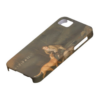 George Stubbs- Freeman With a Dying Doe and Hound iPhone SE/5/5s Case