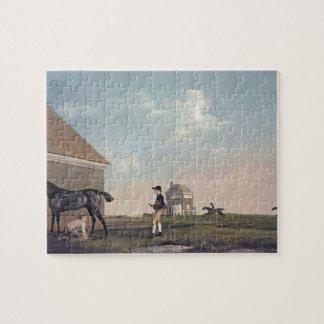 George Stubbs- Gimcrack en el brezo de Newmarket Puzzle