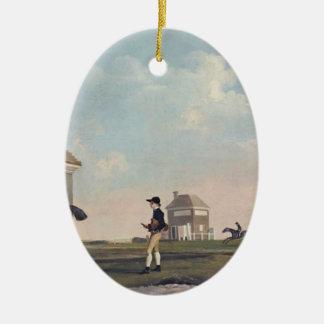 George Stubbs- Gimcrack on Newmarket Heath Ornament