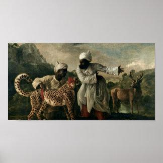 George Stubbs - guepardo con dos criados indios Poster