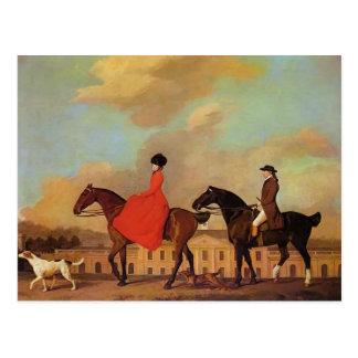 George Stubbs- John and Sophia Musters Postcard