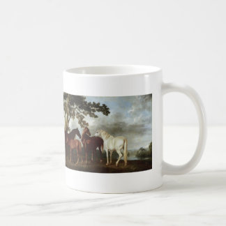 George Stubbs-Mares and Foals in a River Landscape Coffee Mug