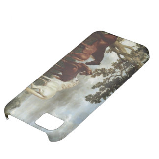 George Stubbs-Mares and Foals in a River Landscape Cover For iPhone 5C