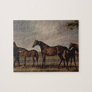 George Stubbs-Mares,foals before a looming storm Jigsaw Puzzles