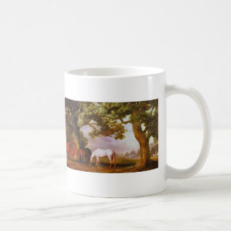 George Stubbs- Mares & Foals in a Wooded Landscape Coffee Mug
