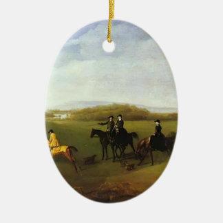 George Stubbs- Racehorses Belonging to the Duke Christmas Tree Ornament