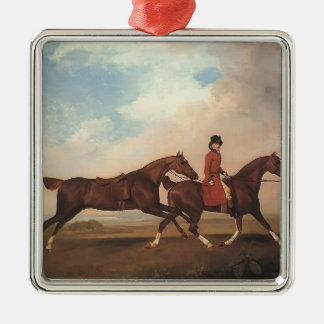 George Stubbs-William Anderson,two saddle-horses Christmas Ornaments