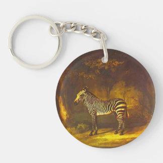 George Stubbs- Zebra Acrylic Key Chain