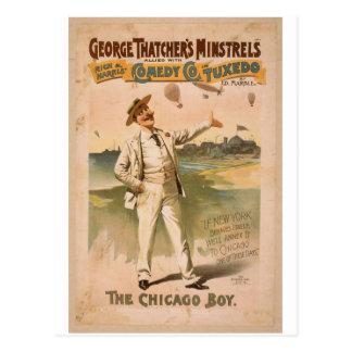 George Thatcher's Minstrels, 'The Chicago Boy' Postcard
