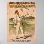 George Thatcher's Minstrels, 'The Chicago Boy' Poster