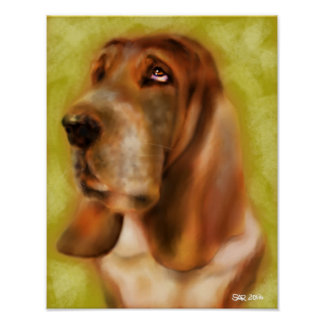 George the Basset Hound Poster