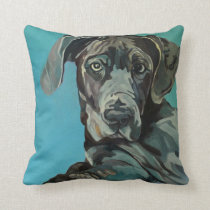 George the Great Dane Dog Portrait Pillow