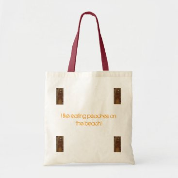 Beach Themed George the singing bananna tote bag