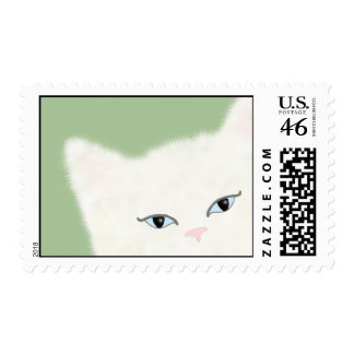 George the white cat stamps