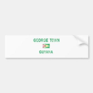 George Town Guyana Designs Bumper Sticker