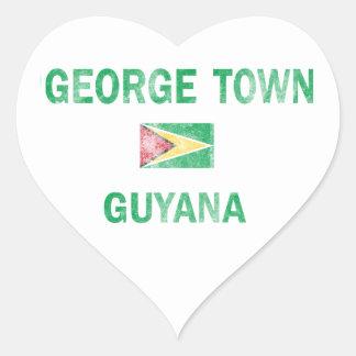 George Town Guyana Designs Heart Sticker