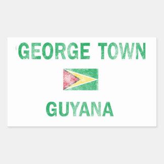 George Town Guyana Designs Rectangular Sticker